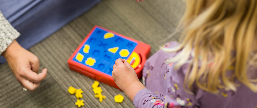 Children using play therapy for anxiety