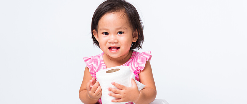Pine cone health therapists helping young kids with potty training